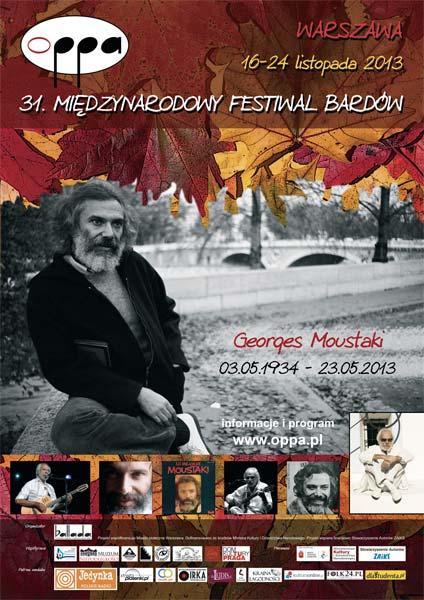 OPPA 2013 - 31. Międzynarodowy Festiwal Bardów - Program
